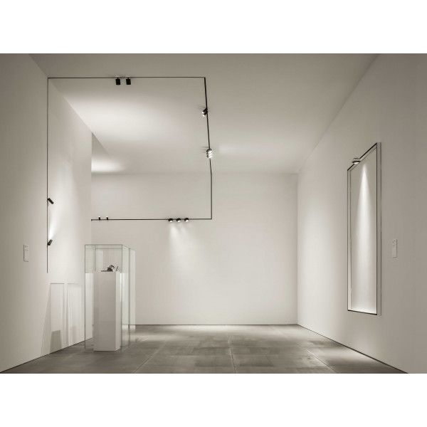 Tracking Magnet Railsysteem Set 1m Zwart Flos Appartement Verlichting Verlichtingsrails Designverlichting