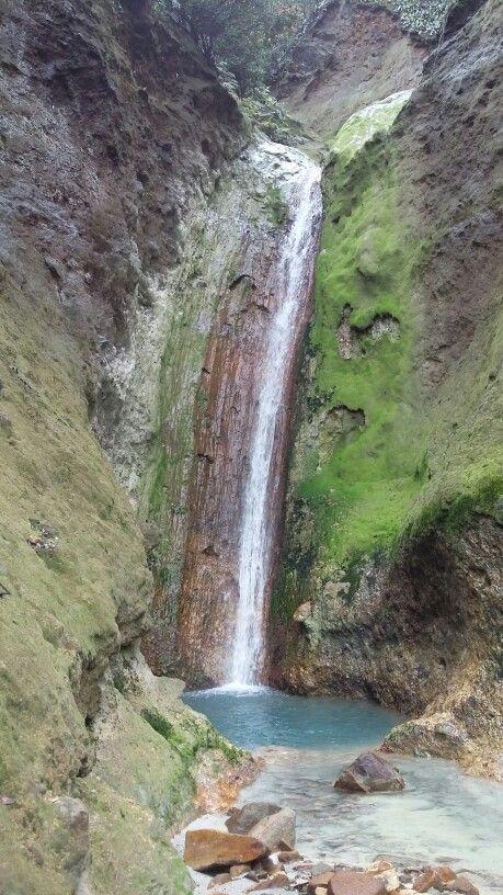 Secret waterfall, Papandayan Mt, West Java