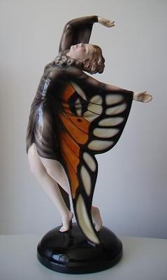 RARE Austrian Goldscheider Art Deco Figurine by Lorenzl C 1930'S | eBay