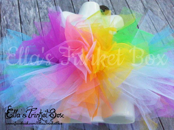 Rainbow Tutu ♡ www.facebook.com/EllasTrinketBox  Cute Colourful Rainbow Tutu Ella's Trinket Box