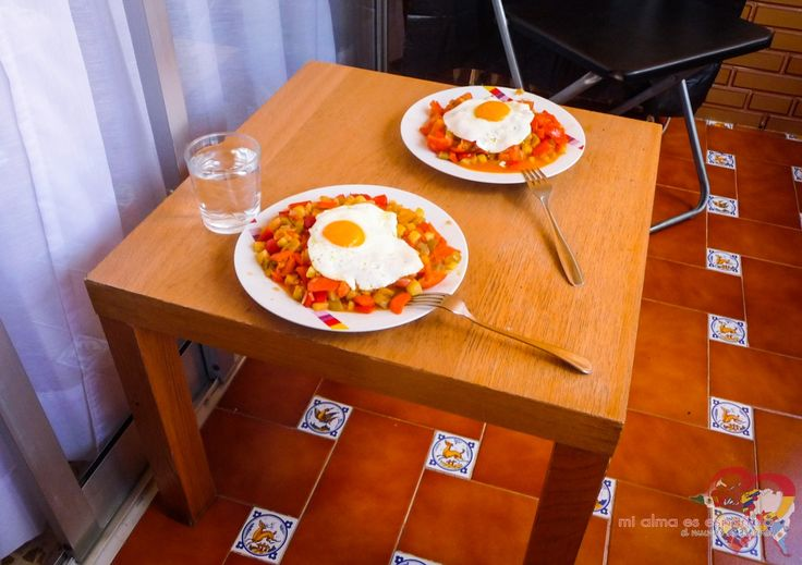 Pisto con huevo which I prepared in Seville with my Spanish friends. I totally love it! #pisto #Spanishfood #Spanishcuisine #Spain #comida