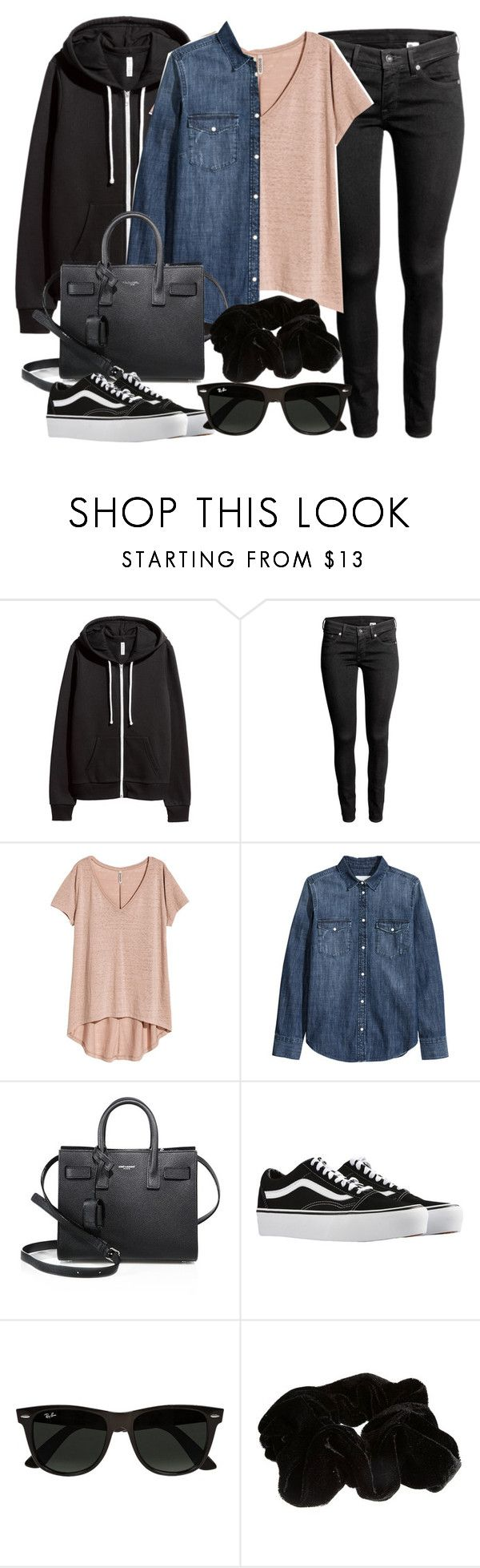 """Sin título #14468"" by vany-alvarado ❤ liked on Polyvore featuring H&M, Yves Saint Laurent, Vans, Ray-Ban and River Island"