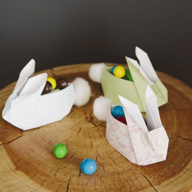 Lapins origami / DIY easter