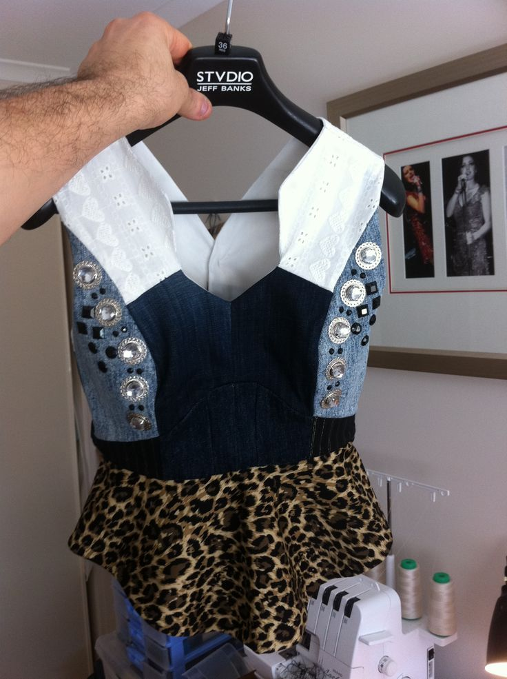 Little top I made for my sister in law out of old jean scraps ..