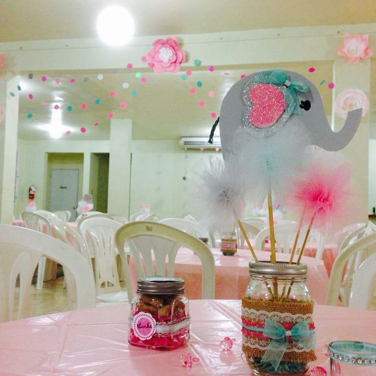 baby shower centerpieces elephant baby boy and baby shower center