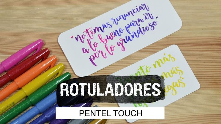 Lettering con rotuladores Pentel Touch - UGDT