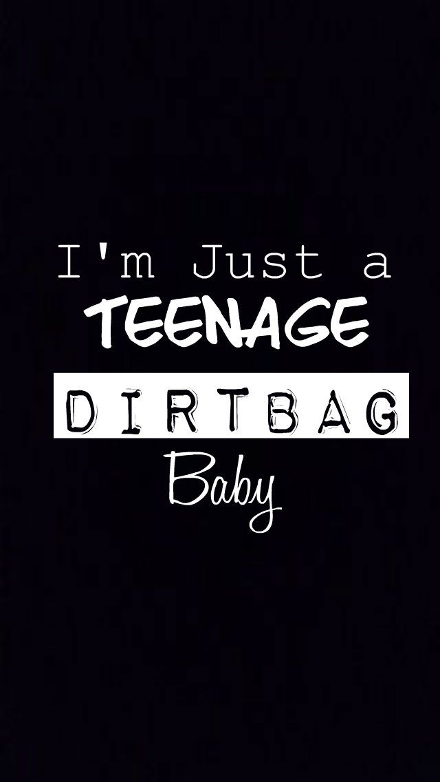 Teenage Dirtbag iPhone 5 wallpaper