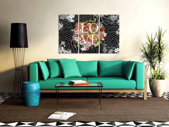 Cuadro vintage Flowers from the heart (Flores del corazón) es un ejemplo de arte moderna. Imagínate una habitación con los colores claros y este cuadro... ¿Es cierto que se ve hermoso? ღ