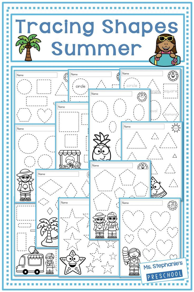 Shape Tracing Summer Tracing Shapes Everything Preschool Shape Tracing Worksheets [ 1107 x 736 Pixel ]