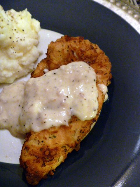 Herb Fried Chicken with Black Pepper Gravy - A quintessential southern dish, fried chicken is mighty hard to beat when it comes to comfort food. Throw in some gravy and some mashed potatoes and you have Sunday supper! -