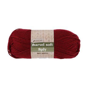 4 Seasons Marvel Soft 8 Ply Yarn Magenta 100 g