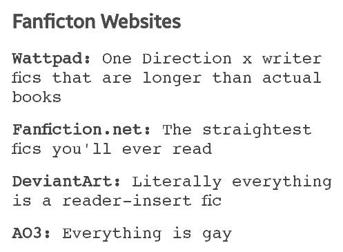 Honestly this is probably why I only read on AO3 anymore and fanfiction has better straight fanfics