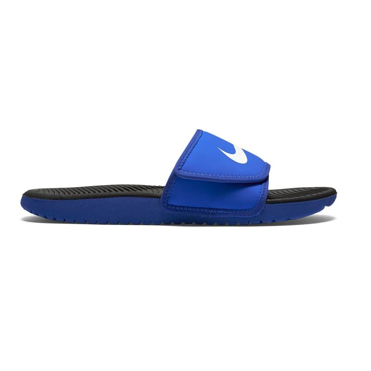 Nike Kawa Boys Adjustable Slide Sandals In 2019 Nike Slide Sandals Boys Shoes Slide Sandals