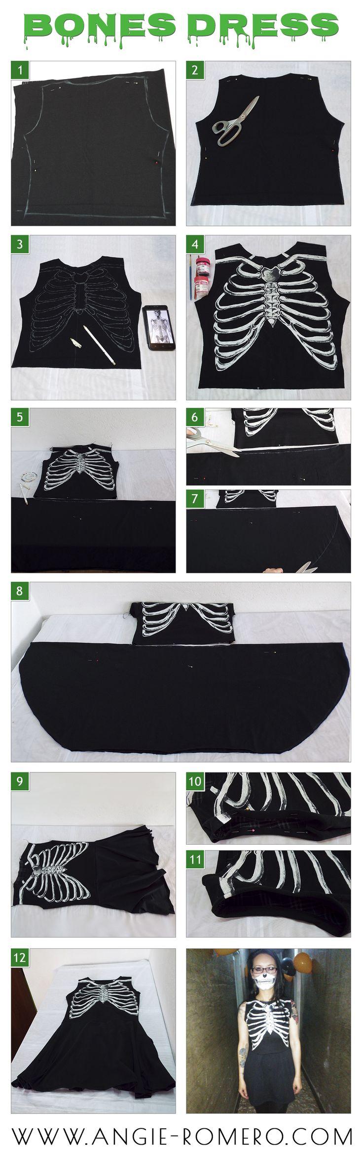 #DIY BonesDress/Vestido esqueleto