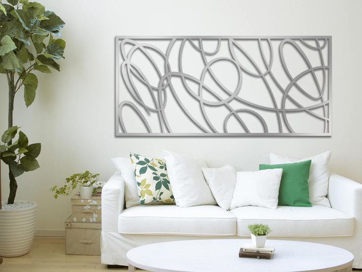 Swirls (For a smaller version, please see the panel design Cheesecake) This is a limited edition laser cut aluminum decorative panel in a contemporary design. It is an ideal addition to your space. This forms an excellent focal point of any room. It can be installed tight to a wall or