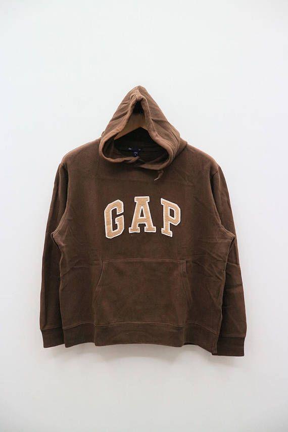 Vintage Gap Brown Hoodies Sweatshirt Sweater Size L Pullover Hoodie Outfit Vintage Hoodies Hoodies
