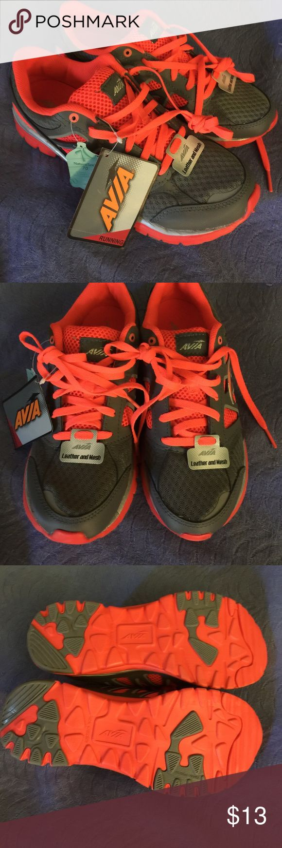 NWT Avia Running Shoes NWT Avia running shoes. Bright coral and gray. Avia Shoes Athletic Shoes