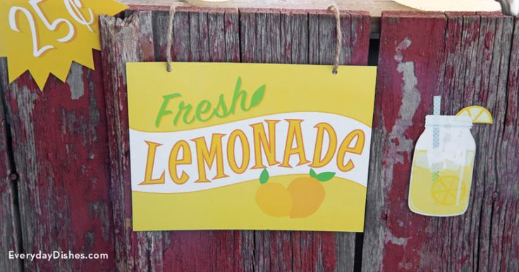 Printable lemonade stand signs – Everyday Dishes & DIY