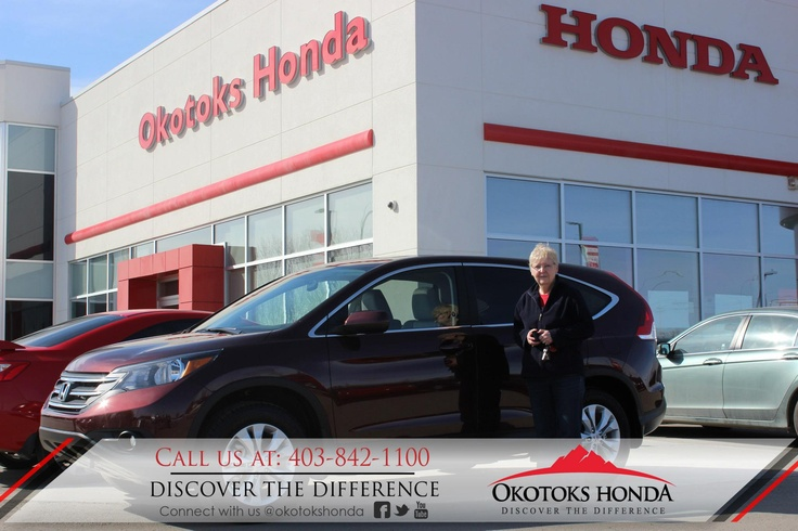 Eileen and their Honda CRV - thanks to Harry Loewen. Welcome to the OH Family! Call Okotoks Honda at 403.842.1100 for your next Honda or for your CRV maintenance needs!