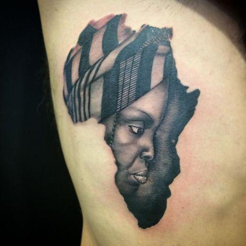Best 25 africa tattoos ideas on pinterest african for Black african queen tattoos
