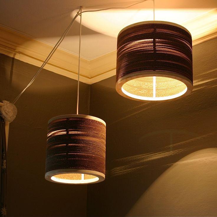 Spaced Corrugated Drum Lights - $100