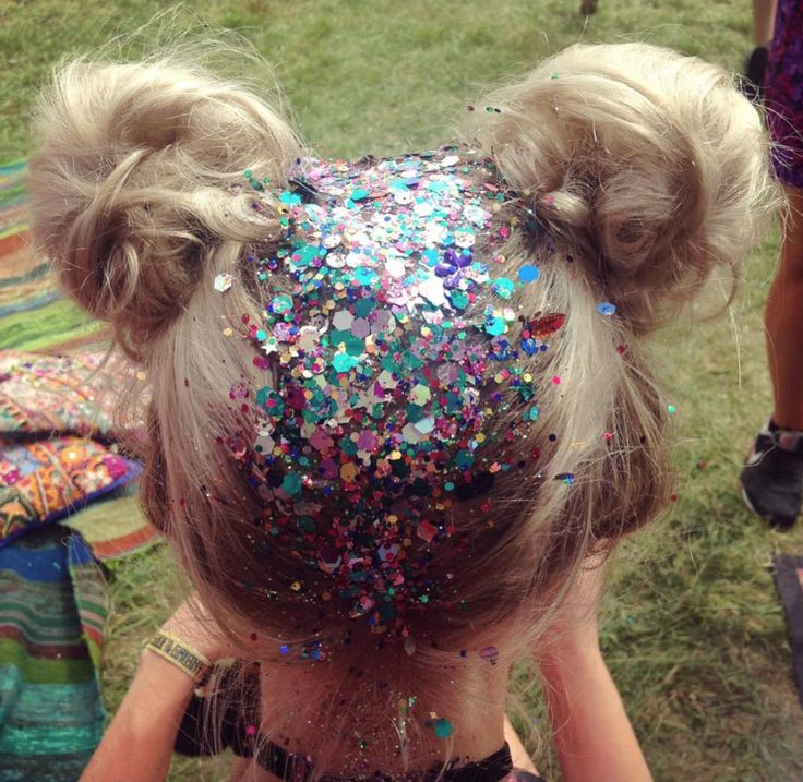 THE GYPSY SHRINE'S TOP 10 GLITTER LOOKS OF 2016! — The Gypsy Shrine    Coachella Hair Styles. Glitter Hair.