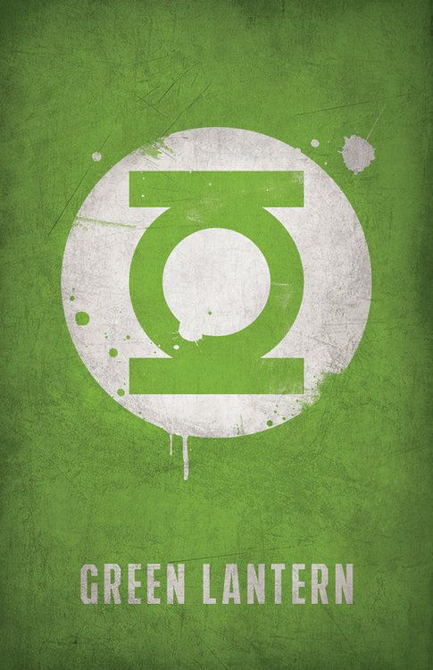 Green Lantern Minimlist Poster - West Graphics