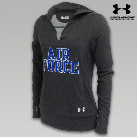 Under Armour Air Force Women's Varsity Hooded Sweatshirt | ArmedForcesGear.com | Armed Forces Gear