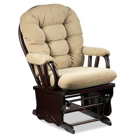 Kids Furniture - Alexa Glider Chair - Beige and Dark Brown