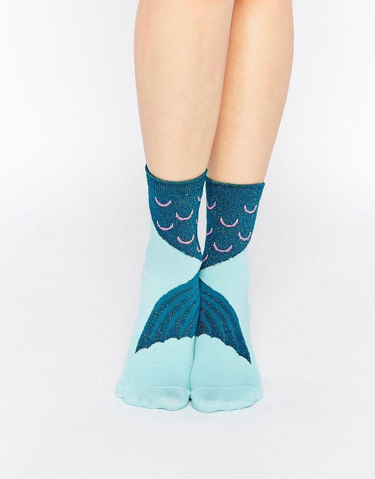 Image 1 ofASOS Mermaid Tail Ankle Socks