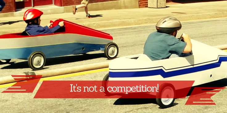 IT'S NOT A COMPETITION! POST-SEPARATION PARENTING  Separated parents can be especially susceptible to feelings of competition with one another. They can enter into a contest for their child's love and affection and for the title of best or favourite parent. They may not even realise that they have been drafted into the competition. They can also tend to forget that, from a child's perspective, there is ALWAYS enough love to go around  www.steppingthrough.com.au
