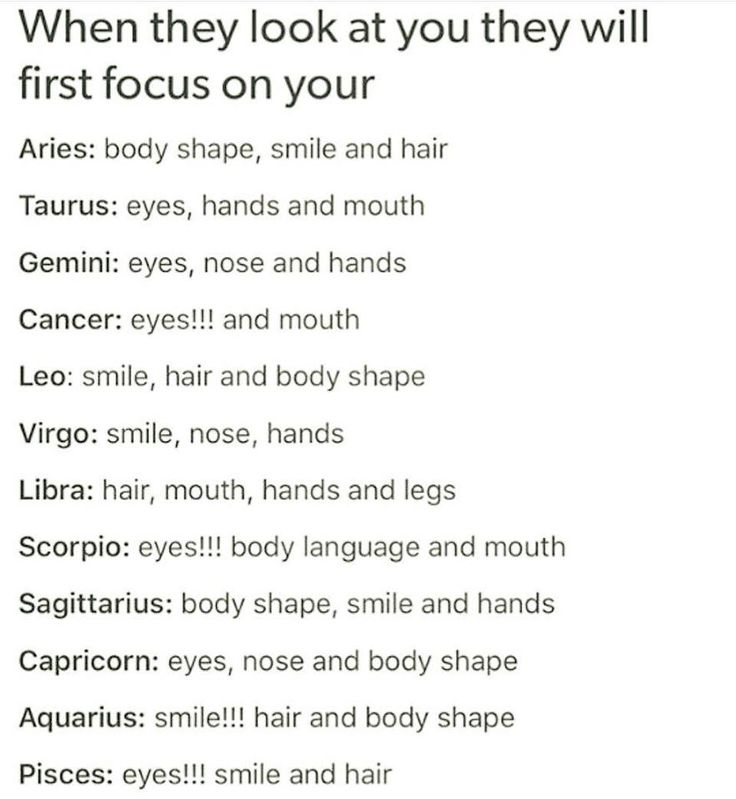 Libra - I'm totally a hair and hands person
