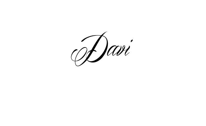 Tatuagem do nome Davi utilizando o estilo Mardian