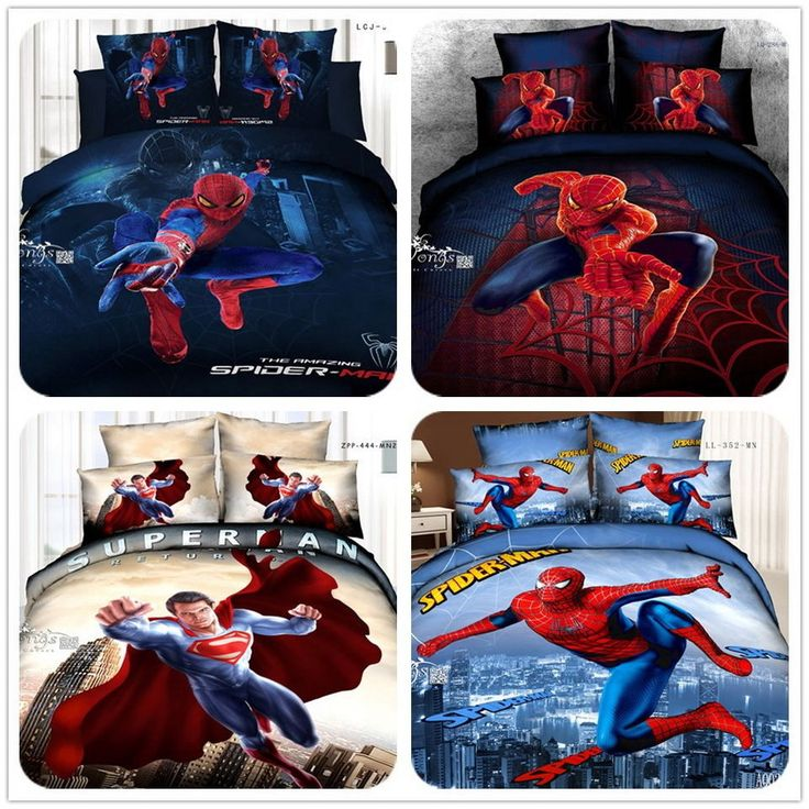 Spider-Man Series Queen Size Bed Quilt/Doona/Duvet Cover Set New 100% Cotton 4PC