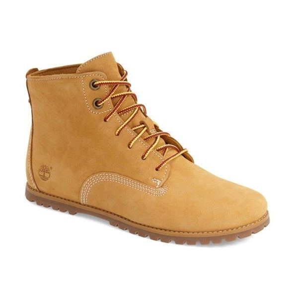 Timberland 'Joslin' Chukka Boot ($120) ❤ liked on Polyvore featuring shoes, boots, ankle boots, beige nubuck, chukka boots, timberland shoes, bootie boots and laced up boots