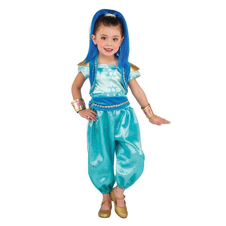 Toddler Shimmer & Shine Deluxe Shine Costume, Girl's, Size: Small, Multicolor