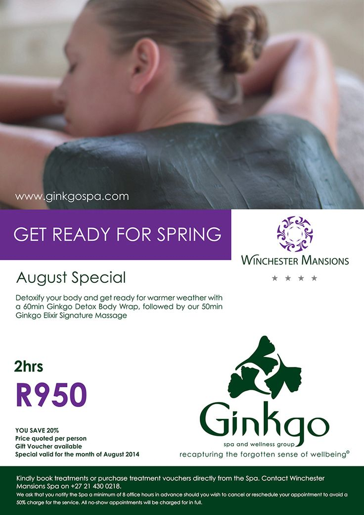 Ginkgo Spa Special for August