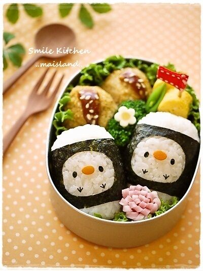 Kawaii Chick Twins Kyaraben Bento Lunch
