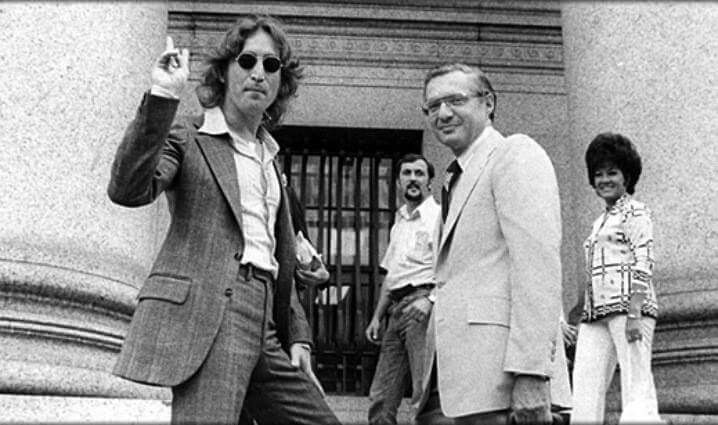 On July 19,1974, the US Justice Department ordered John Lennon out of the country by September 10th. The Immigration and Naturalization Service denied him an extension of his non-immigrant visa because of his guilty plea in England to a 1968 marijuana possession charge. The US Court of Appeal would overturn the deportation order in 1975 and Lennon was granted permanent resident status the following year.
