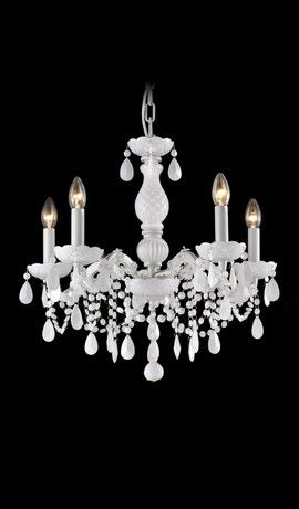 Maria Theresa Gabriella White Chandelier 5 Lights from Chandelierium Bedroom?