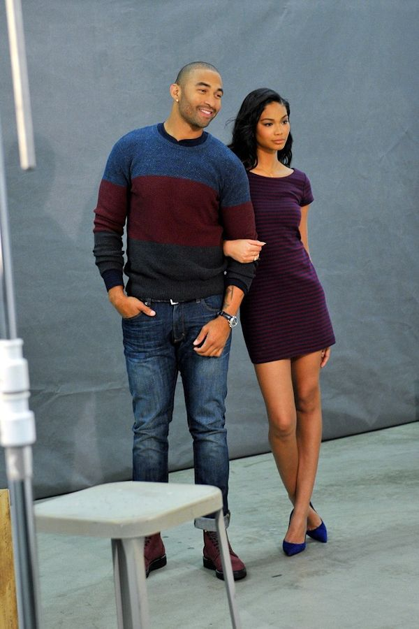 Matt Kemp behind the scenes of the ad shoot for Gap's outlet stores with model Chanel Iman. Description from pinterest.com. I searched for this on bing.com/images