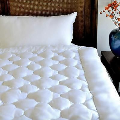 Clouds Mattress Pad Pillow Top Topper Hypoallergenic White Bed Cover Queen Size
