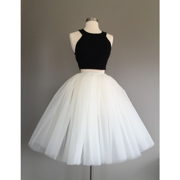 Ivory Tulle Skirt light ivory tulle skirt, Adult Bachelorette Tutu-... ($75) ❤ liked on Polyvore featuring skirts, short tulle skirt, long sheer skirt, white high waisted skirt, white tutu skirt and tutu skirts