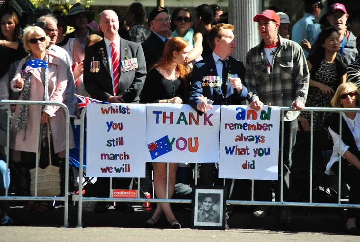 The ANZAC Day March gives people the opportunity to show the respect we all have for our veterans, past and present.