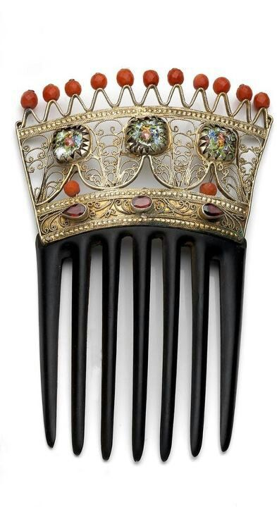~Spanish hair comb - 1880 | House of Beccaria#                              …