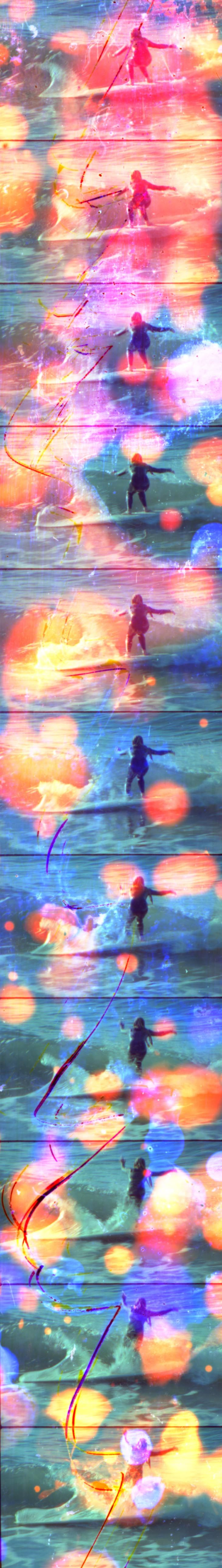 Jennifer West - Dawn Surf Jellybowl Filmstrip 2  2011 Archival inkjet print 221 x 36 cm