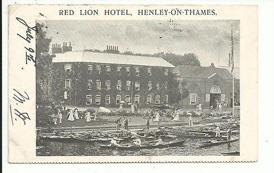 Red Lion Hotel, Henley-on-Thames pu 1906 postcard