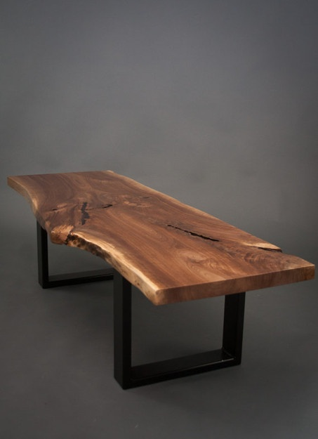 Elegant Reclaimed Black Walnut COFFEE TABLE - Natural/Rustic/Modern