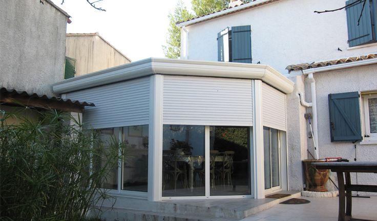Veranda Montpellier fermeture loggia menuiserie abri piscine sas entree protection solaire