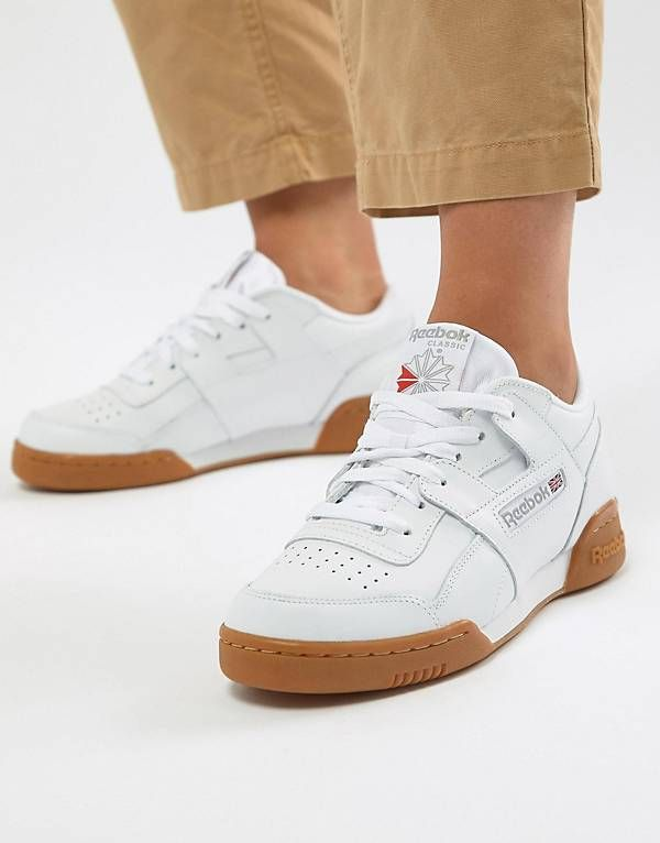 92b695e1 Reebok Classic Workout Trainers With Gum Sole | T R A I N E R S . in ...